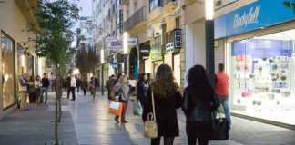 Calle comercial de Badajoz