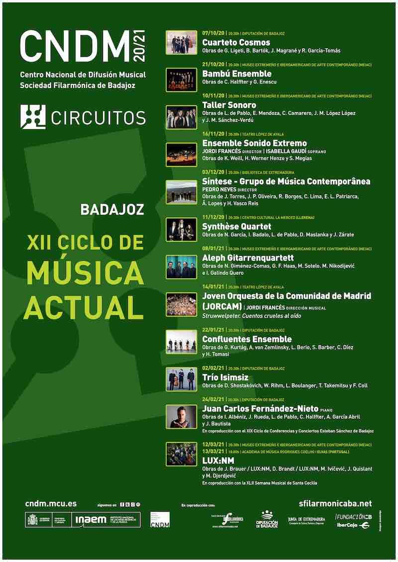 - NUEVA FECHA - XII Ciclo de Música Actual de Badajoz - Ensemble Sonido Extremo
